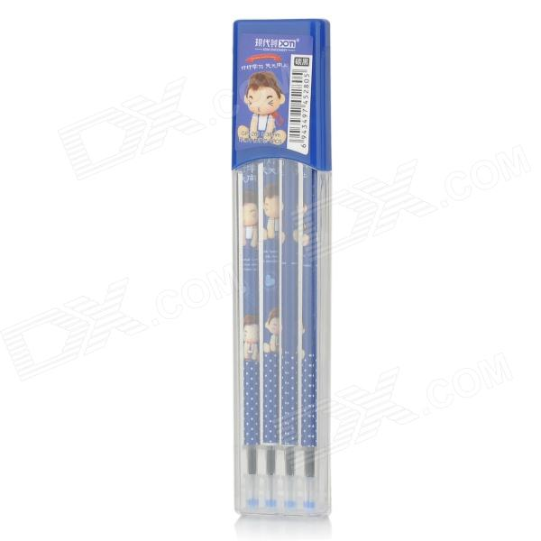 Replacement Erasable 0.38mm Black Gel Ink Pen Refills - Multi-colored