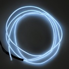 EL 3V Water Resistant Cool White Decorative LED Strip Light for Party - White + Black (2 x AA)