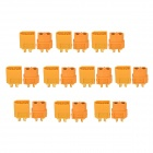 XT60 Male to Female Connectors - Yellow (20 PCS)