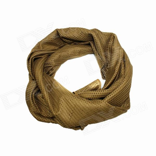 Outdoor Cotton + Nylon Scarf Muffler - Sand Yellow