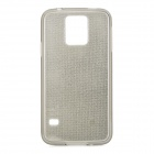 Stylish Shiny Sand Dust Silicone Back Case for Samsung S5 - Translucent Black