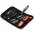 WLXY WL-12PC Mini alicates + Destornilladores + Cuchillo + Llave + pinzas Set - Marrón + Negro