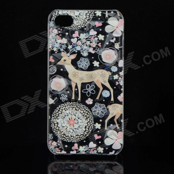 Stylish Deer Style Protective Plastic Back Case for IPHONE 4 / 4S - Multicolor