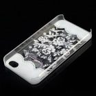 Stylish Rose Style Protective Plastic Back Case for IPHONE 4 / 4S - Multicolor