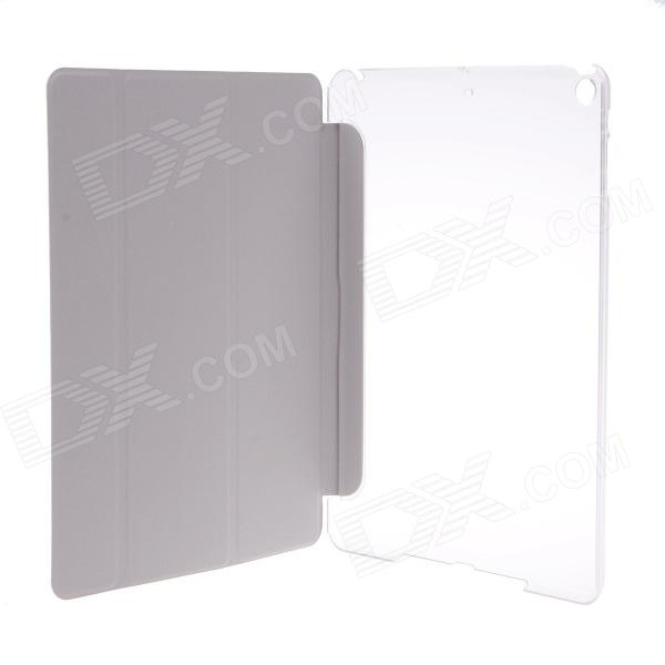 Ultra-thin Elegant Silk Pattern Protective PU Leather Case Cover w/ Auto Sleep for IPAD AIR - White
