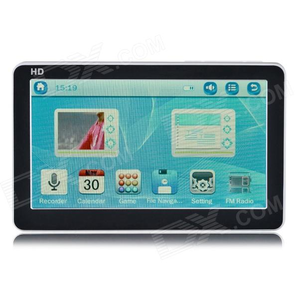 4.3'' HD Touch Screen MP5 Player w/ FM - White + Black (8GB)