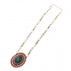 De moda del collar del Rhinestone multicolor de la Mujer - Red + Green