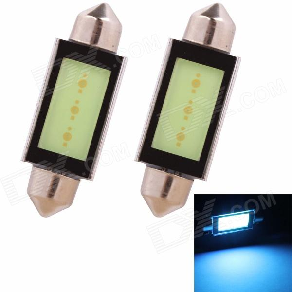 Festoon 42mm 3W 225lm COB LED Ice Blue Light Car Auto Reading Lamp/License Plate Light (12V/2PCS) 2014 new 2pcs 42mm festoon c10w plasma cob smd led canbus sv8 5 dome map trunk lights bulbs free shipping