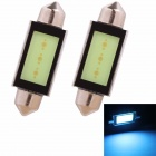 Festoon 42mm 3W 225lm COB LED Ice Blue Light Car Auto Reading Lamp/License Plate Light (12V/2PCS)