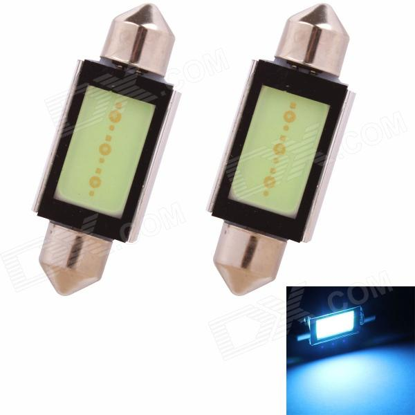 Festoon 39mm 3W 225lm COB LED Ice Blue Light Car Auto Reading Lamp/License Plate Light (12V/2PCS) 2pcs set sunkia led number license plate lights pure white color for ford focus c max mk2 03 08 free shipping