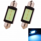 Festoon 39mm 3W 225lm COB LED Ice Blue Light Car Auto Leselampe / Kennzeichenbeleuchtung (12V/2PCS)