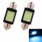 Festoon 36mm 2W 150lm COB LED Ice Blue Light Car Auto Leselampe / Kennzeichenbeleuchtung (12V/2PCS)