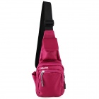 HONGYS YS-2002 Waterproof Nylon Casual Outdoor Hiking Single Shoulder Messenger Bag - Deep Pink