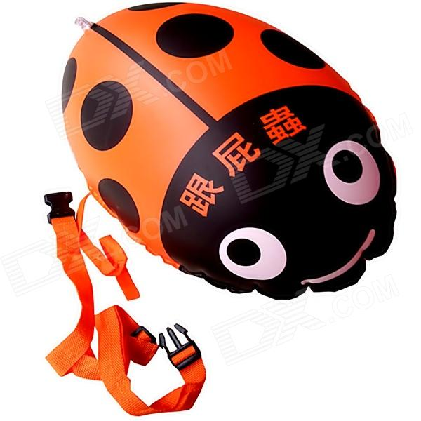 Thick PVC Buoyancy Ball Swimming Aid for Children - Orange + Black