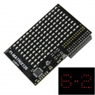 Pi Lite / Pi Matrix Board w/ 126-LED Red Light for Raspberry Pi - Black