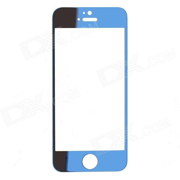 ROCS Colorful Mirror Tempered Glass Screen Protector for IPHONE 5 / 5S / 5C - Blue