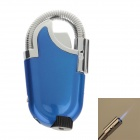 Creative Elbow Pipe Refillable Gas Lighter w/ LED Light - Blue + Silver