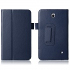 "Lychee Grain Style Protective PU Leather Case for Samsung Galaxy Tab 4 T230 7"" - Dark Blue"