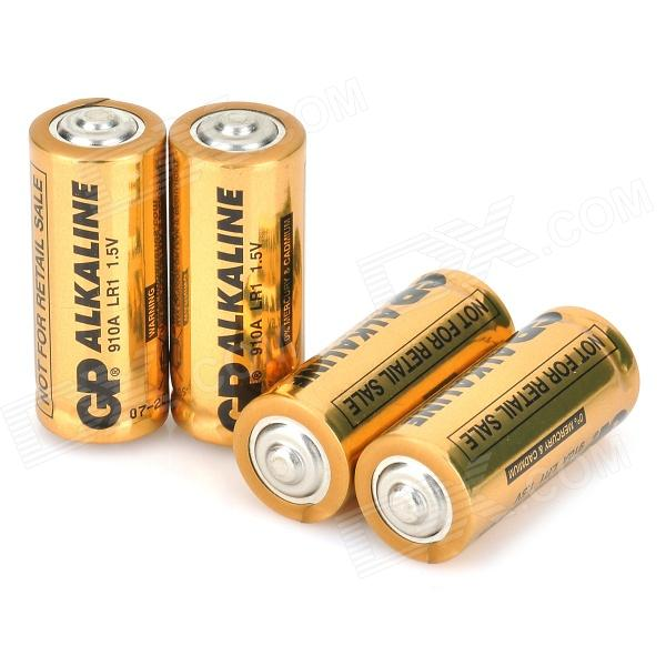 GP 910A LR1 1.5V Alkaline Battery w/ Case - Golden (4PCS)