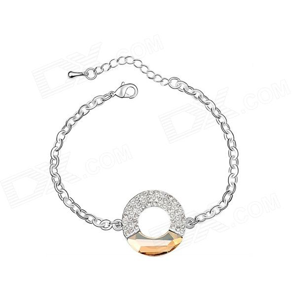 Angibabe Concentric Silver Plated Bracelet - Silver