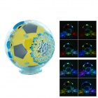 S-20 Mini Football Shaped 2.0-CH Speaker w/ FM / TF- Yellow + Translucent Blue + Black (16GB Max.)