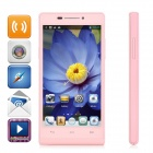 "HTM A6W Dual-core Android 4.2.2 WCDMA Bar Phone w/ 4.5"" Screen, Wi-Fi and GPS - Pink"
