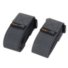 Acecamp 9113 2.5 x 60cm Velcro Buckle Compression Belt - Grey + Black (2PCS)