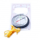 Acecamp 3116 Fluorescent Map Compass + Multi Scales - Transparent