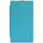 NILLKIN Protective Flip Open PU Leather + PC Case for Nokia X - Blue