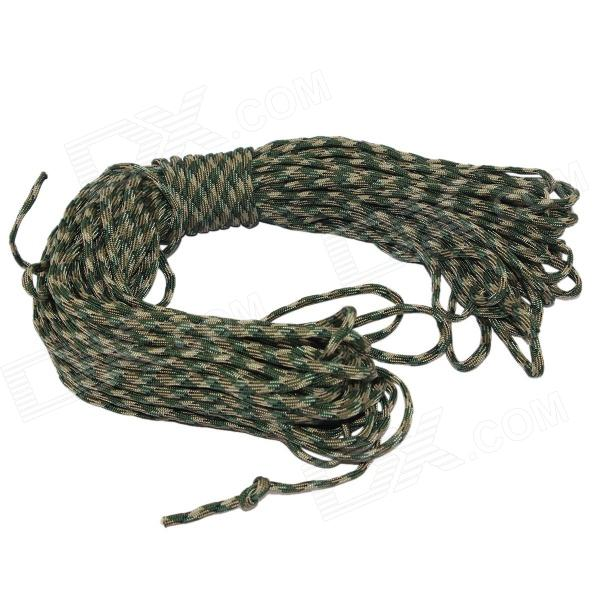 Survival Parachute Cord Paracord - Camouflage Green (30m) oumily 9 core glow in the dark outdoor survival parachute rope