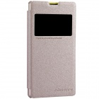NILLKIN Protective Flip Open PU Leather + PC Case for Sony Xperia Z1 Compact (M51W) - Champagne Gold