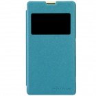NILLKIN Protective Flip Open PU Leather + PC Case for Sony Xperia Z1 Compact (M51W) - Blue