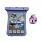 POPLAE HY-803 Waterproof Bag for IPHONE 4 / 4S / 5 / 5C / 5S - Purple + Translucent White