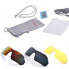 Gonbes K1 Stylish Rechargeable Wireless Stereo Bluetooth V2.0 Sunglasses / Headset - White + Yellow