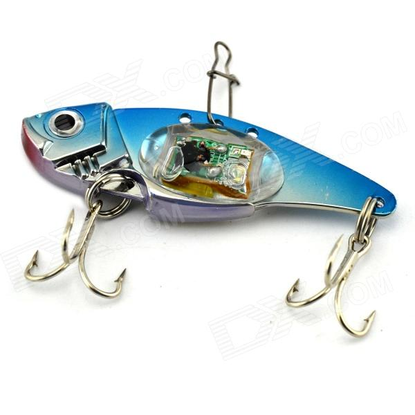 Underwater Flash LED Light Vibration Sinking Fishing Lure Bait - Sapphire Blue + Silver flash led light bait fishing lure light electronic fishing lamp