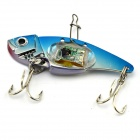 Underwater Flash LED Light Vibration Sinking Fishing Lure Bait - Sapphire Blue + Silver