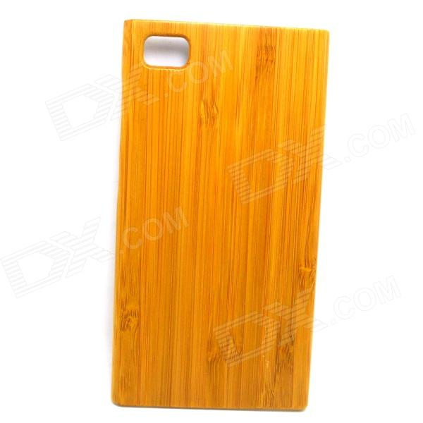 Retro Protective Bamboo Wood Pattern Back Case for Xiaomi 3 - Yellow boxwave huawei g6310 bamboo natural panel stand premium bamboo real wood stand for your huawei g6310 small