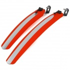 Plastic Quick Disassembling Mudguard for Bicycle / Bike - Red