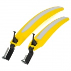 Plastic Quick Disassembling Mudguard for Bicycle / Bike - Yellow