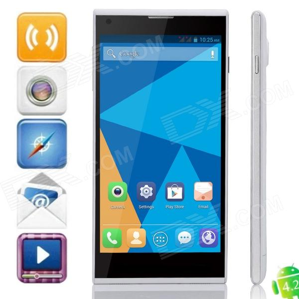 DOOGEE DAGGER DG550 Octa-Core Android 4.2.9 WCDMA Phone w/ 5.5, 16GB ROM, GPS, OTA - White doogee dagger dg550 octa core android 4 2 9 wcdma phone w 5 5 16gb rom gps ota white