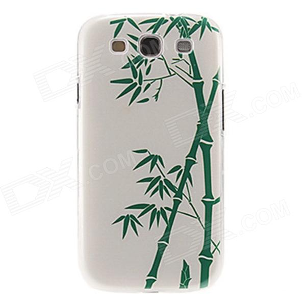 Kinston Bamboo Pattern Plastic Protective Back Case for Samsung Galaxy S3 i9300 - White + Green kinston colorful flowers and butterflies pattern plastic protective case for samsung galaxy s3 i9300