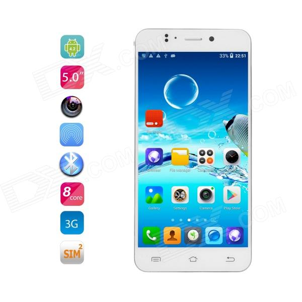 JIAYU S2 MTK6592 Octa-Core Android 4.2 WCDMA Phone w/ 5 IPS Gorilla Glass, 16GB ROM, 13MP - White ubtel u8 mtk6592 octa core android 4 2 2 wcdma phone w 5 0 ips 13 0mp otg hml 16gb rom black