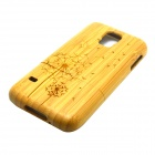 Dandelion Pattern Detachable Protective Bamboo Back Case for Samsung Galaxy S5 - Yellow
