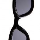 Punk Style PC Frame Resin Lens Flip-Open UV400 Protection Sunglasses - Black