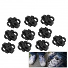 Convenient Plastic Shoelace Buckle - Black (10 PCS)