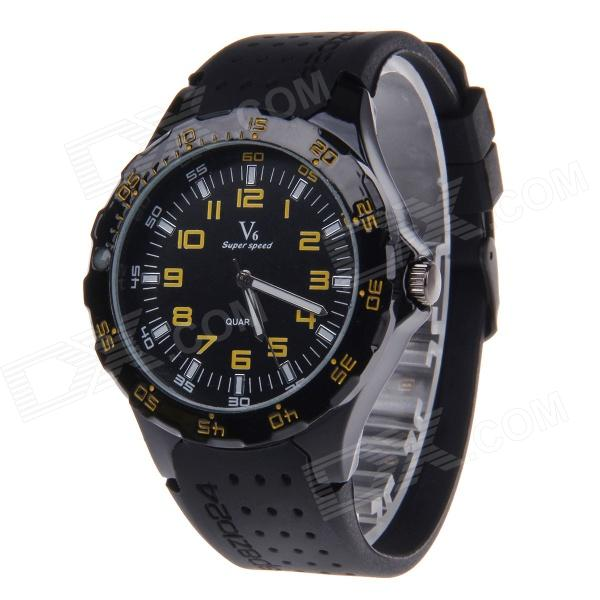 V6 Super Speed V0231 Men's Fashionable Stainless Steel Casing Analog Quartz Watch (1 x LR626)