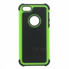 Buy Fashionable 2-in-1 Protective Silicone Back Case IPHONE 5 / 5S - Black + Green