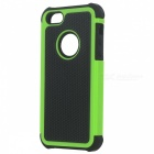 Fashionable 2-in-1 Protective Silicone Back Case for IPHONE 5 / 5S - Black + Green
