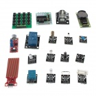 XD XD06 DIY UNO R3 RFID Stepper Motor w/ 18 Expansion Module Kit for Arduino - Blue + Black