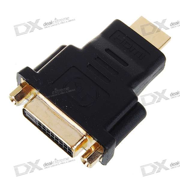 Gold Plated HDMI Male to DVI 24+1 Female Adapter